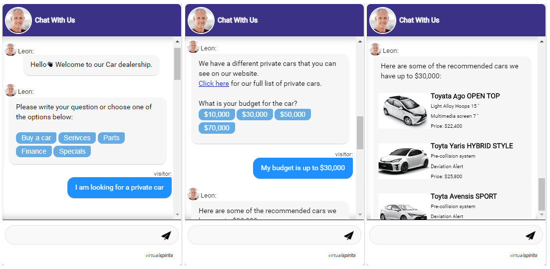 chatbot car dealership