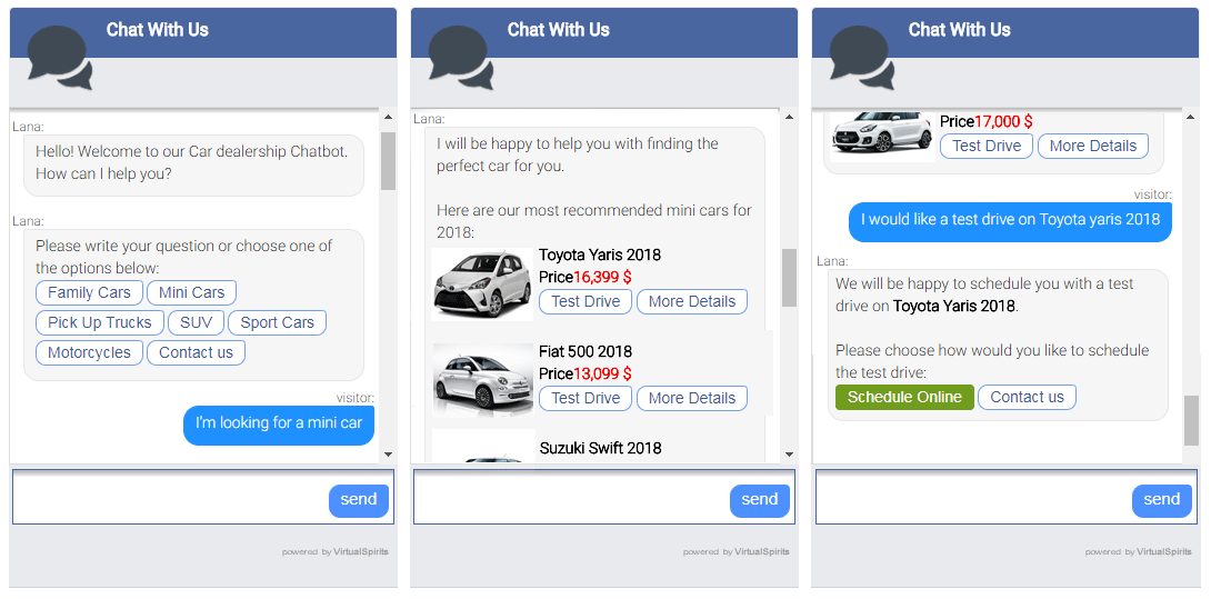 Chatbot for cars