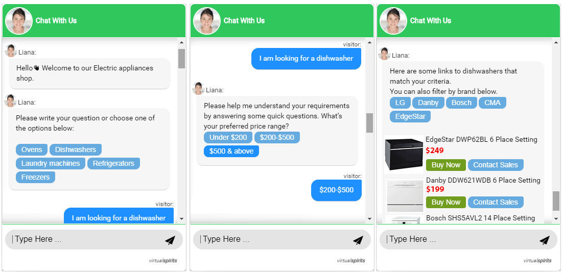 Ecommerce Chatbot Conversations
