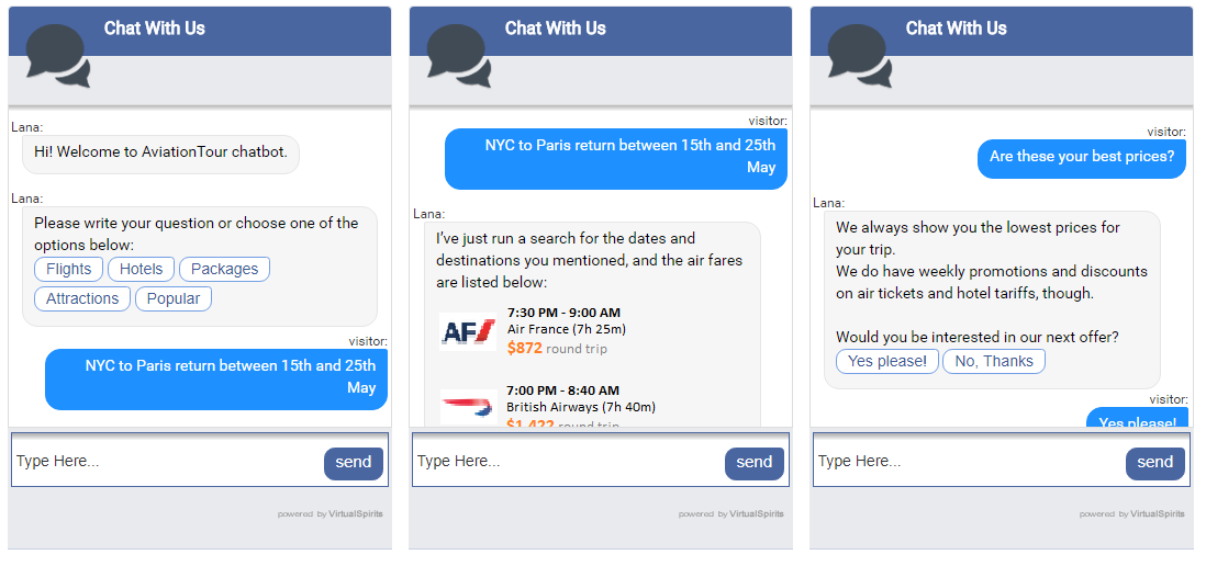 Chatbot for Messenger vs. Chatbot for Website