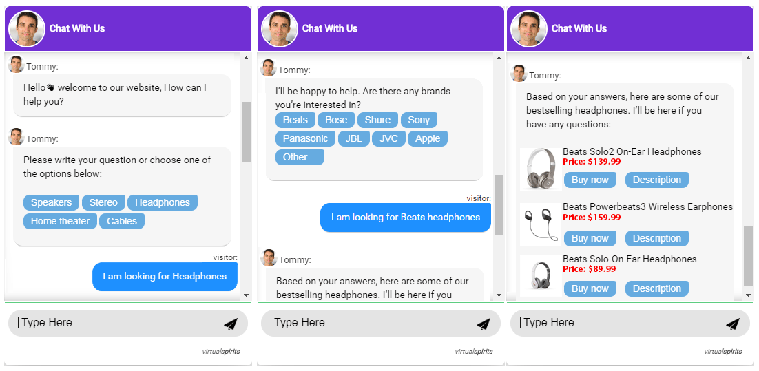 Chatbot for ecommerce assistant