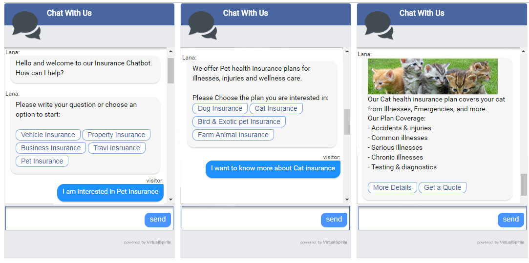 chatbot for insurance services