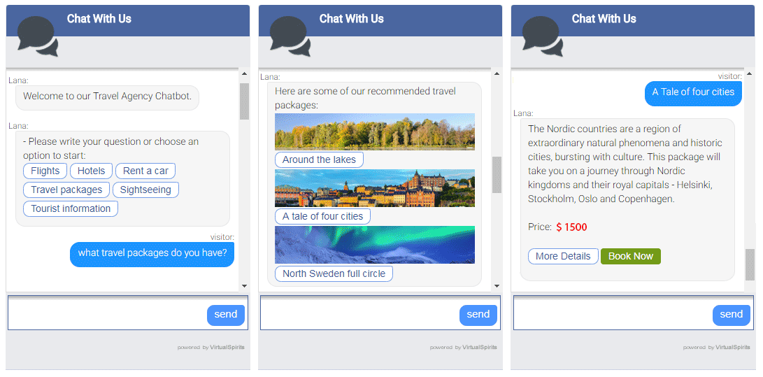 chatbot for travel agency