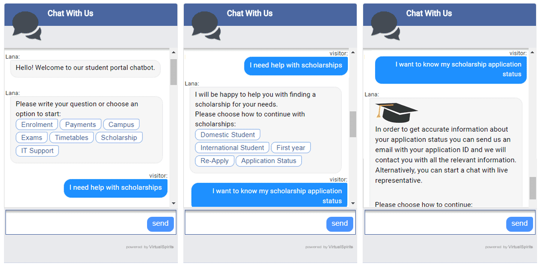 chatbot for universities