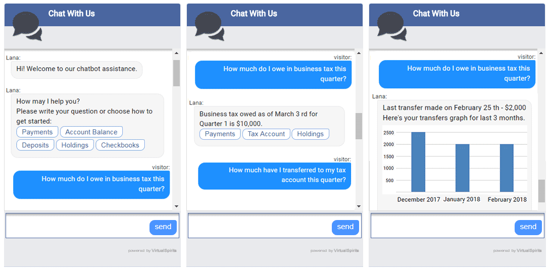 chatbot for financial services