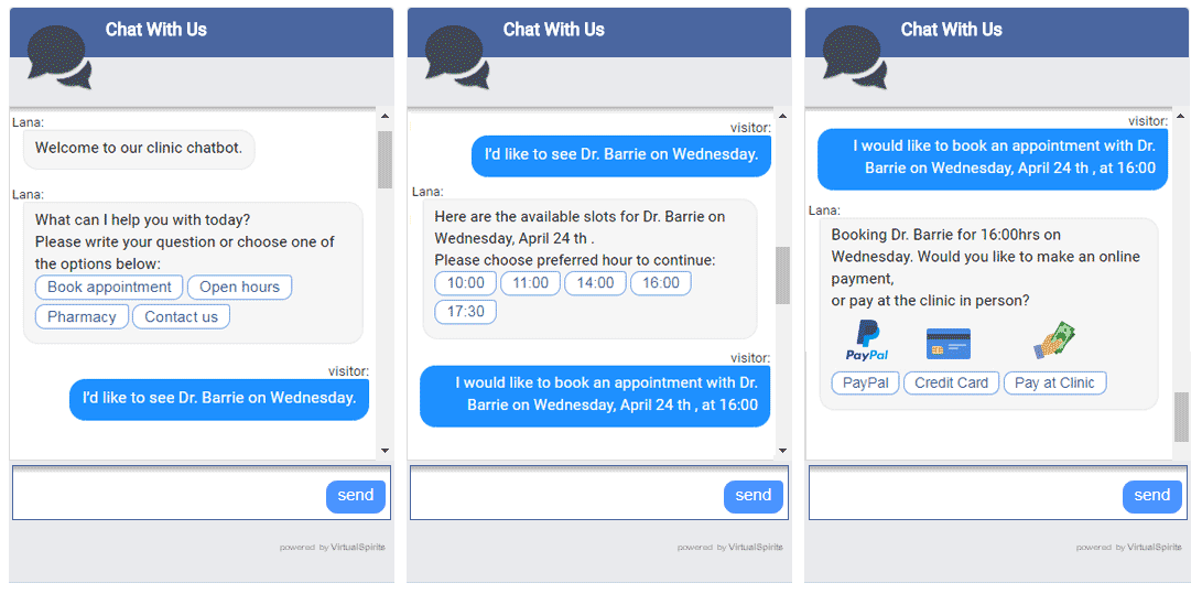 chatbots for healthcare and medical services