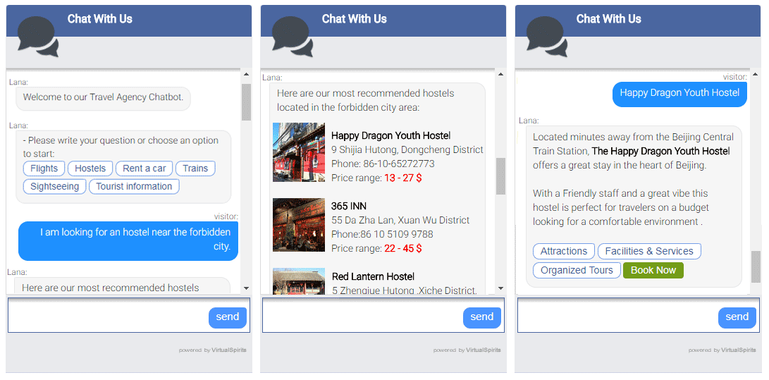 Chatbot hotel booking