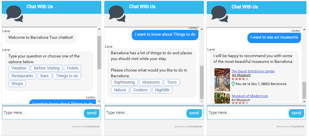 Chatbot for tourism
