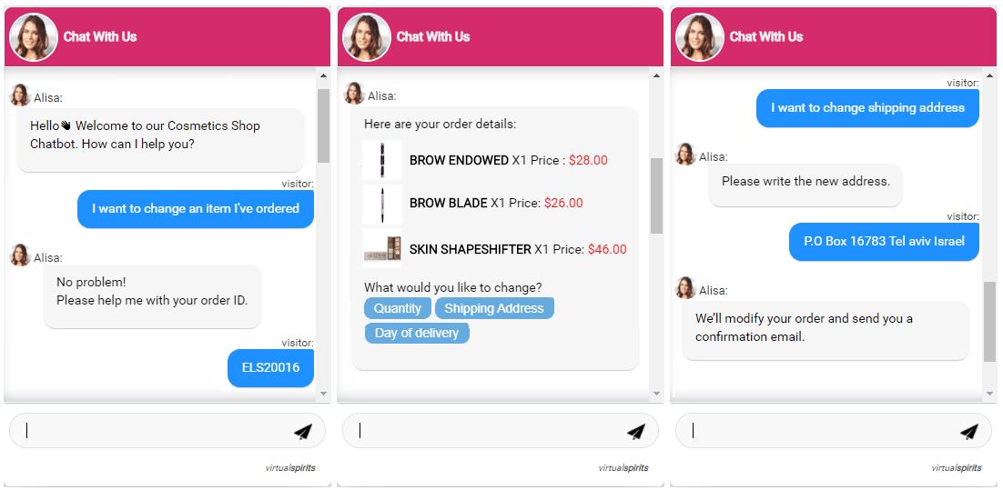 ecommerce chatbot order status