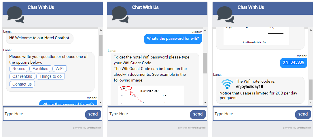 chatbot for hotel