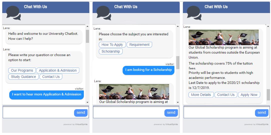 university chatbot admission