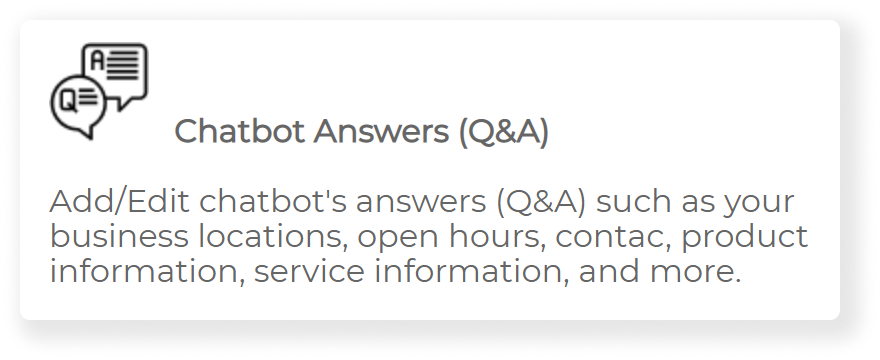 edit chatbot answers