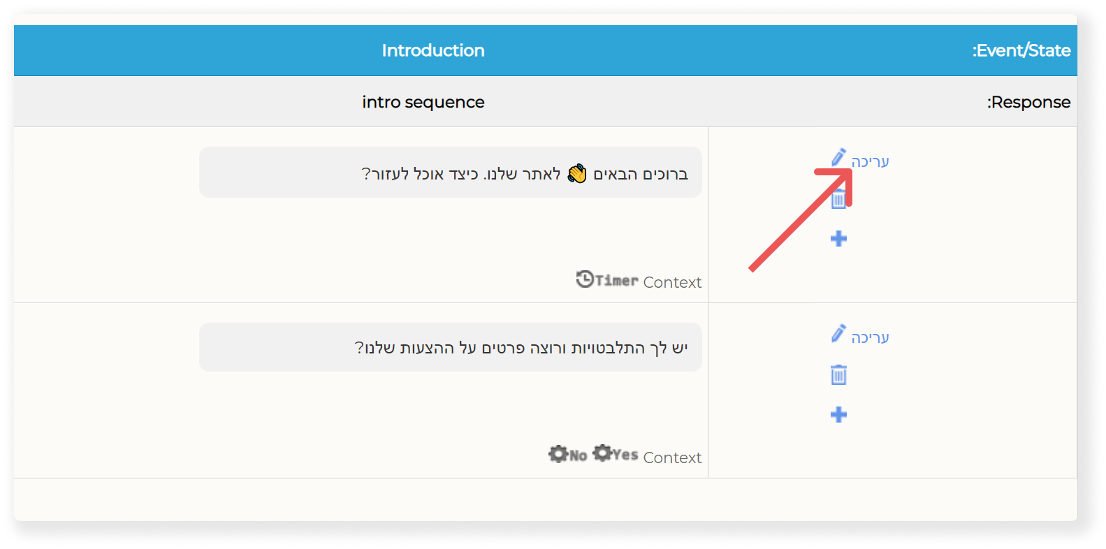 Edit Chatbot Introduction Text