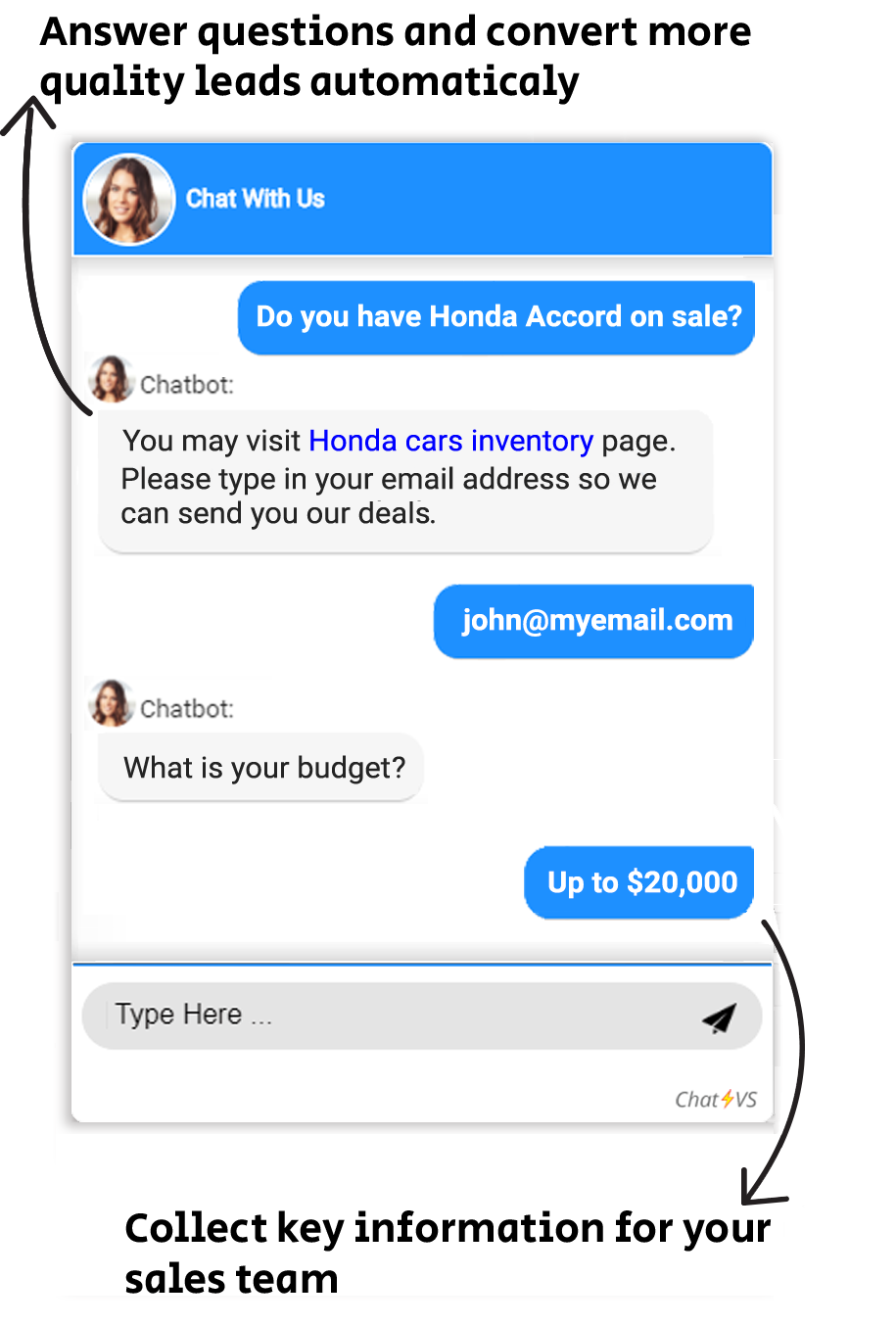 lead generation chatbot for cars