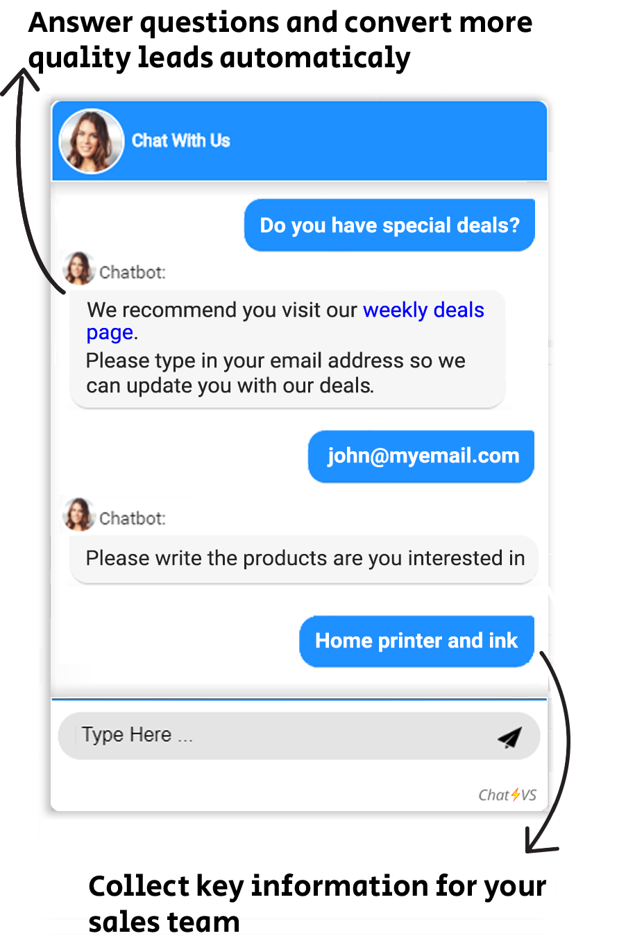 lead generation chatbot for ecommerce