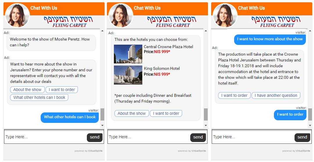 Chatbot voor Flying Carpet reisbureau